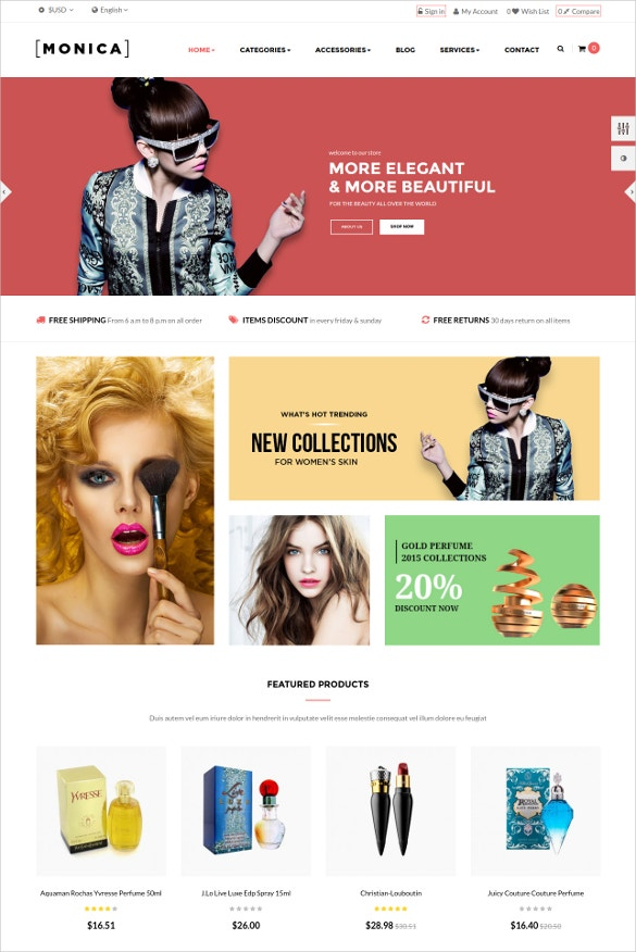 elegant cosmotic html5 template