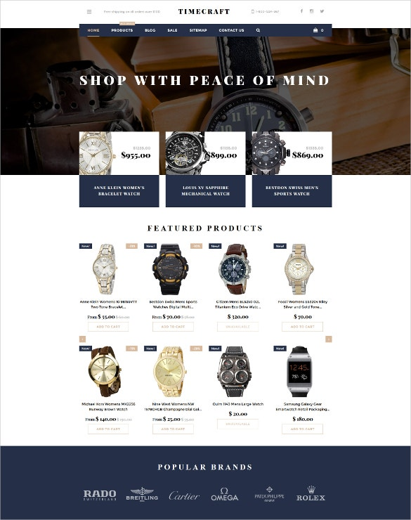 time craft shopify ecommerce theme