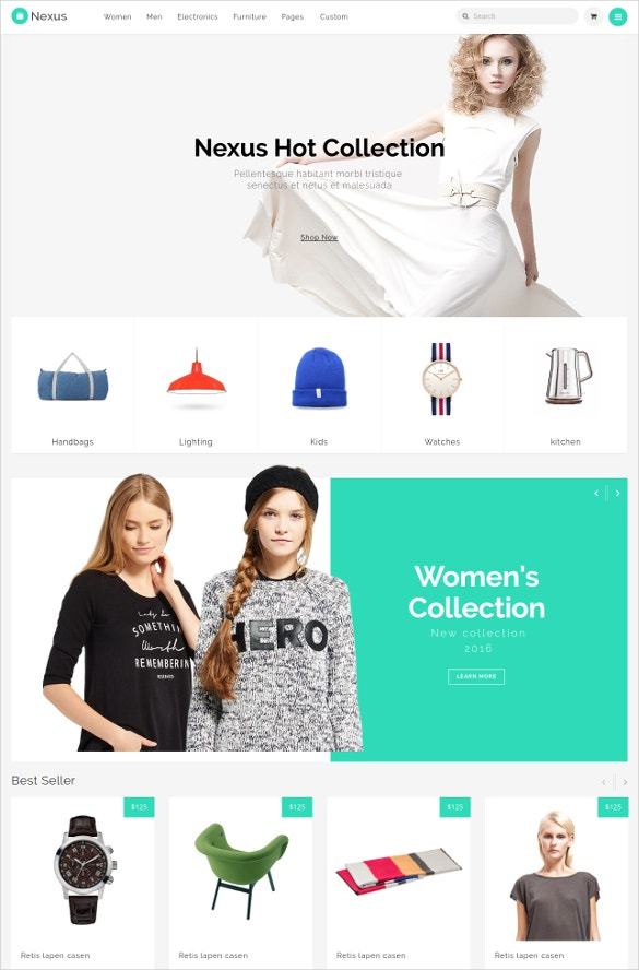 responsive ecommerce store template