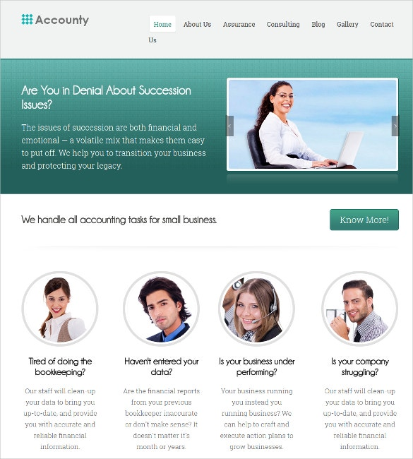 accounting agencies wordpress website theme