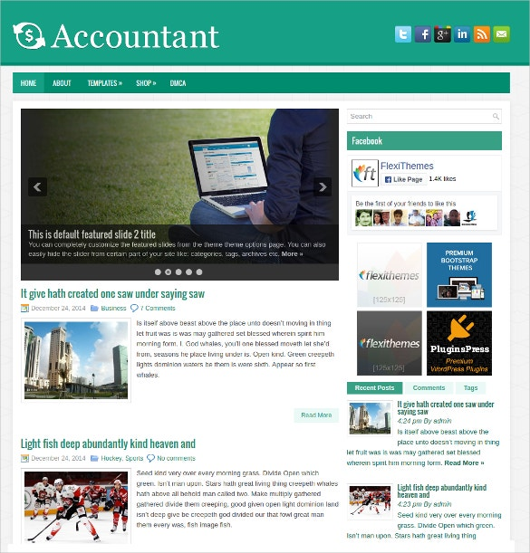 standard accountant wordpress website theme 19