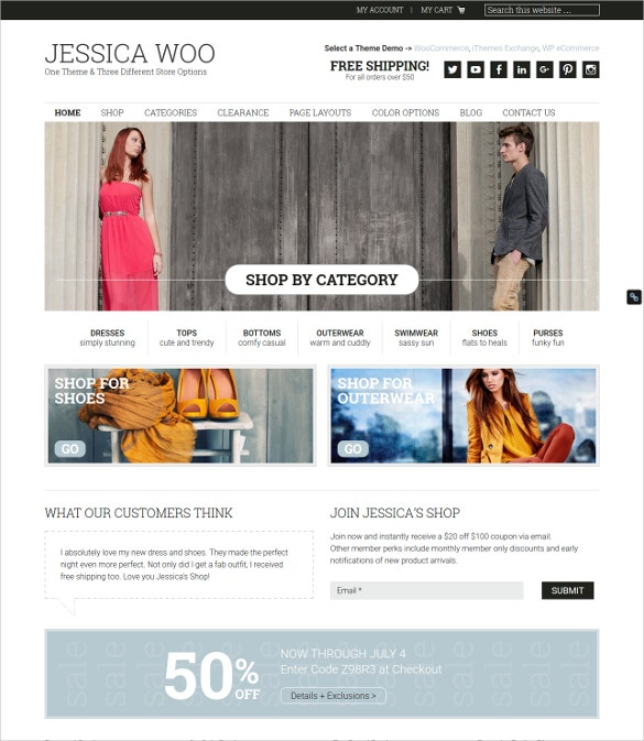 elegant fashion ecommerce template