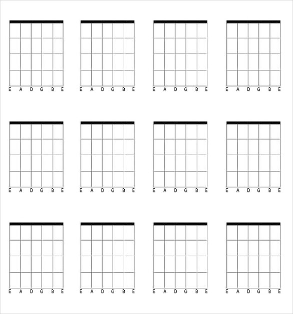 Blank Guitar Chord Template Download In PDF