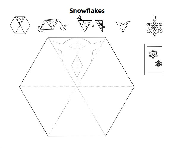 easy snowflake template images