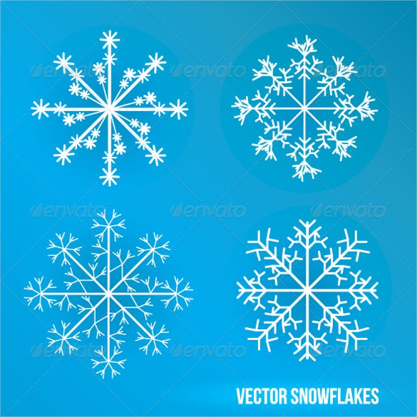 amazing snowflake template design download