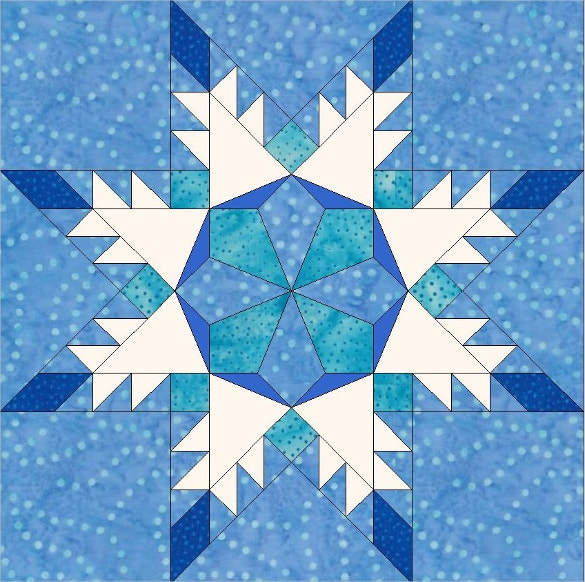 star snowflake paper piece template download