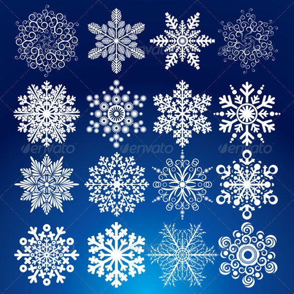 6 elegance snowflake template set download