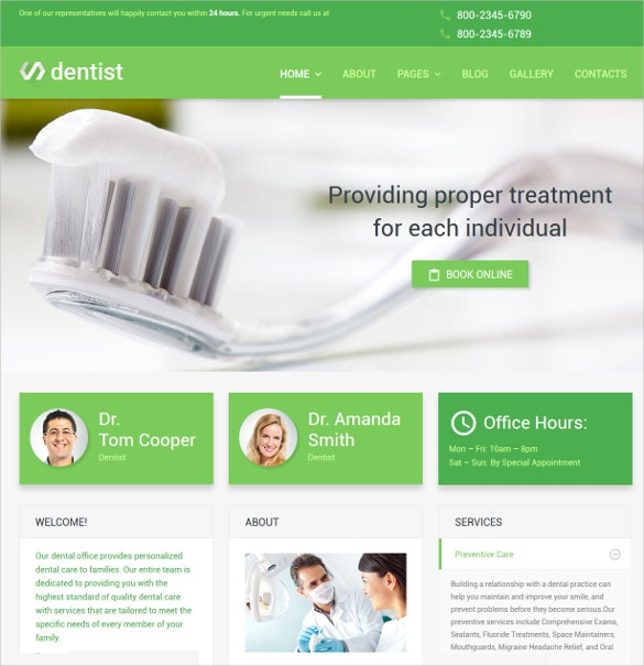dentist traetment joomla website template 75