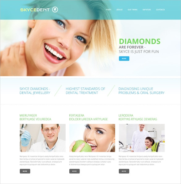 dentistry responsive website template 69