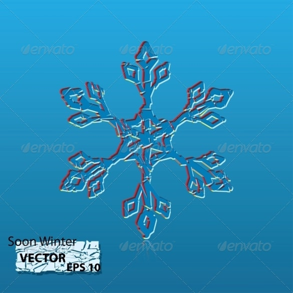 winter snowflake template download