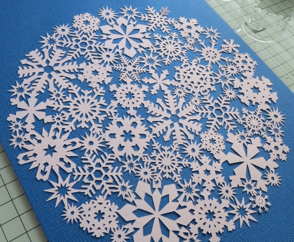simple snowflake papercut template download