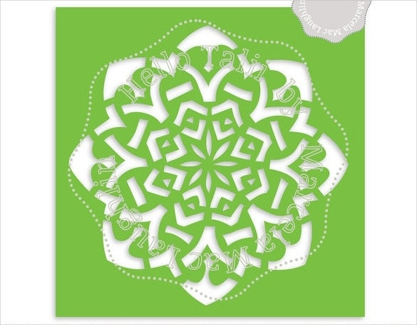 mosaique star snowflake template download