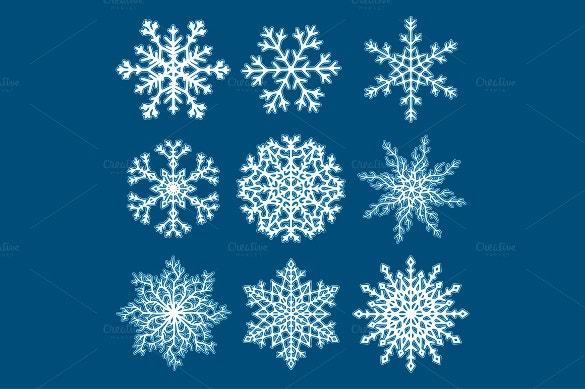 10 christmas snowflake template set download