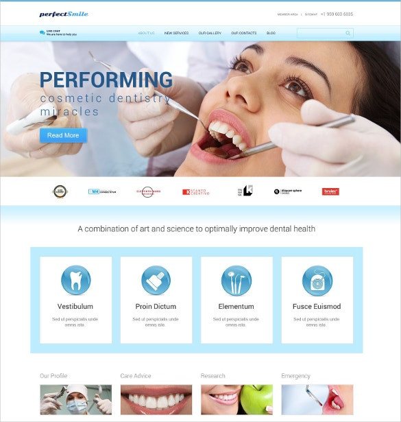 cosmetic dentistry responsive website wordpress theme 75