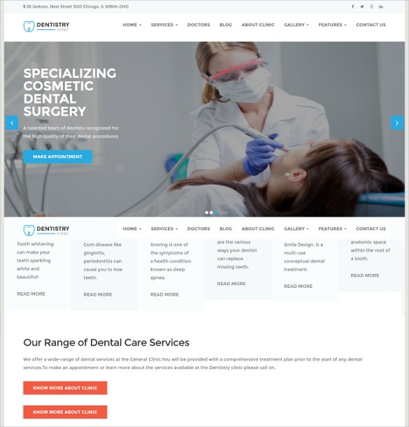 dental medical clinic wordpress website theme 49