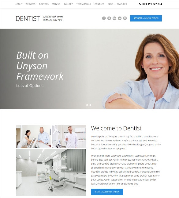 dental smile one page wordpress website theme 44