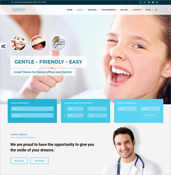 40+ Dental Website Themes & Templates | Free & Premium Templates