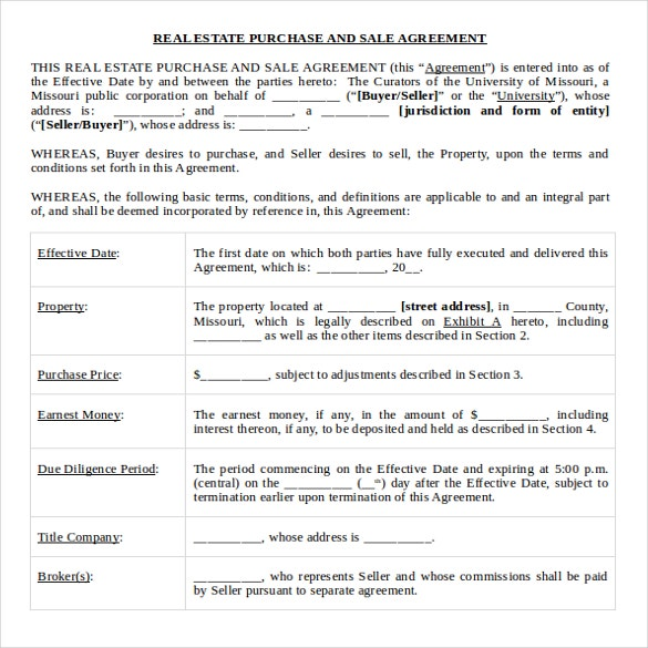 real estate bill of sale template free download ms word