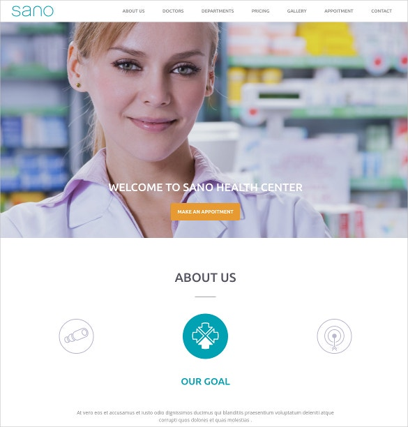 dental medicine wordpress one page website theme 39