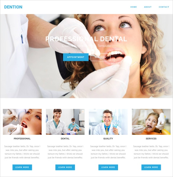 dental appointment bootstrap html website theme 9