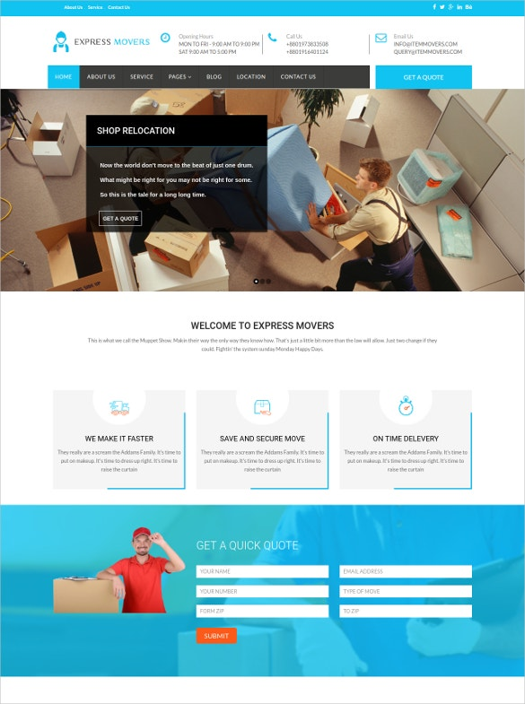 express movers joomla template