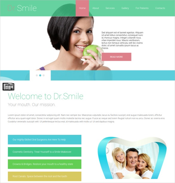 family dental website joomla theme 29