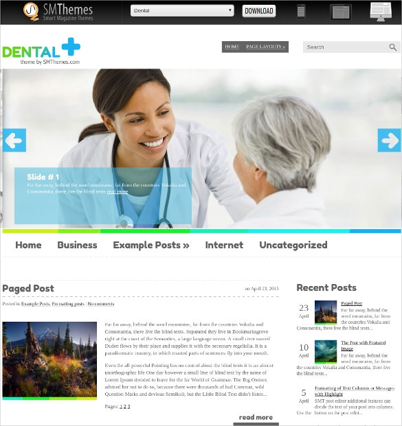 premium medical dental wordpress website theme