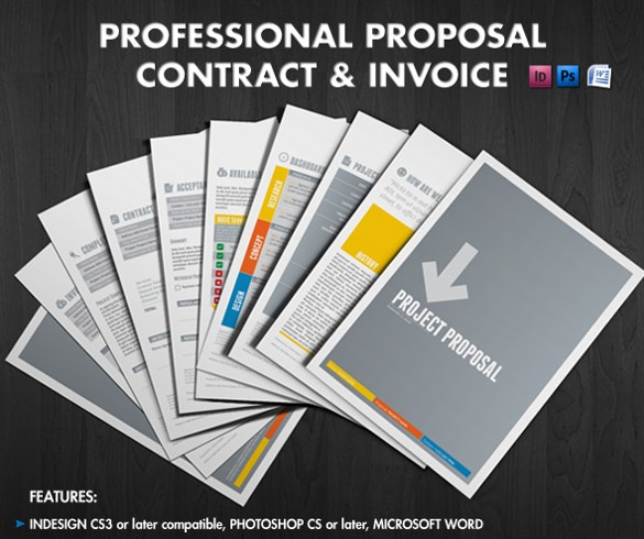 ms word proposal contract invoice template download