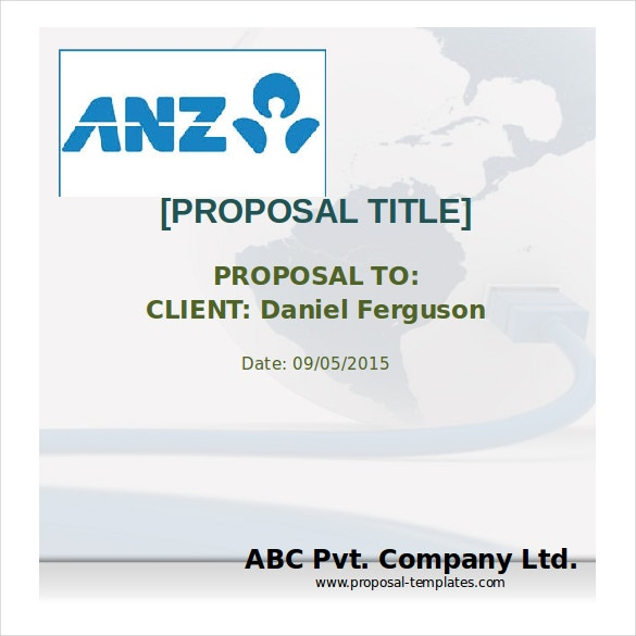bank loan proposal free ms word template