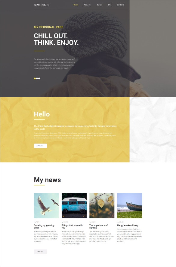 simon wordpress blog theme
