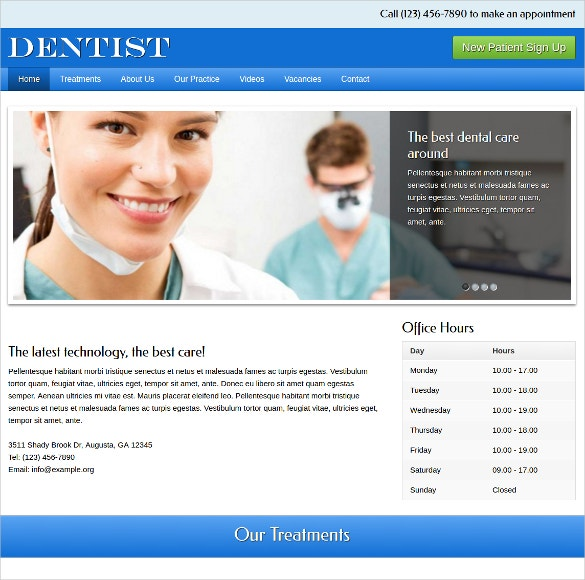online dentist wordpress website theme 75