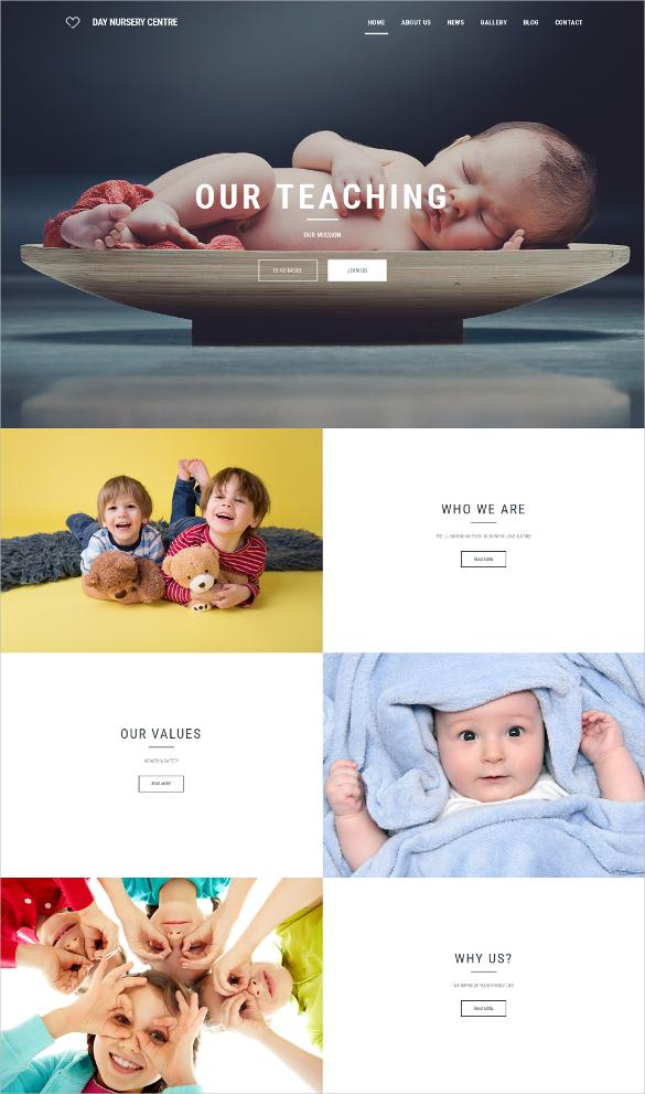 babysitter responsive moto cms 3 blog template