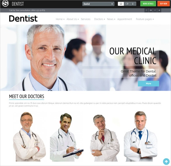 professional dental joomla website theme
