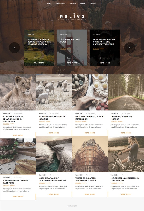 traveling blog html template1