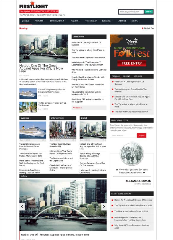 responsive modern magazine blogger template
