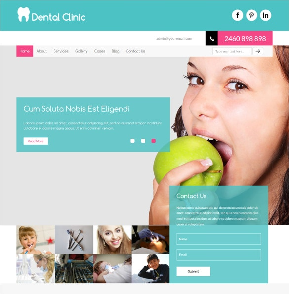 dental clinic bootstrap responsive web template