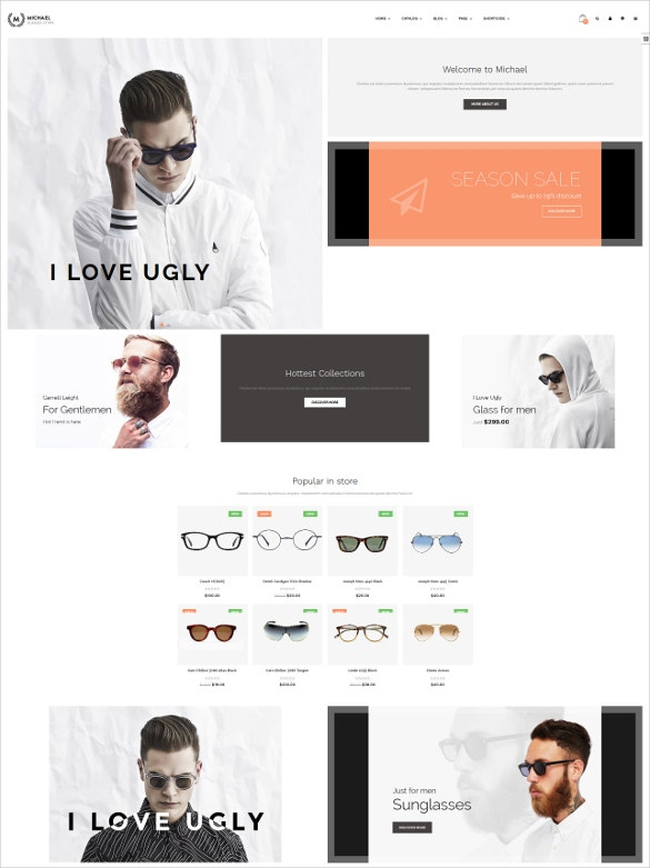 accessories shopify responsive blog theme