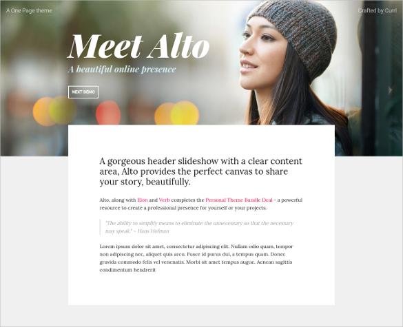 minimal online presence blog template