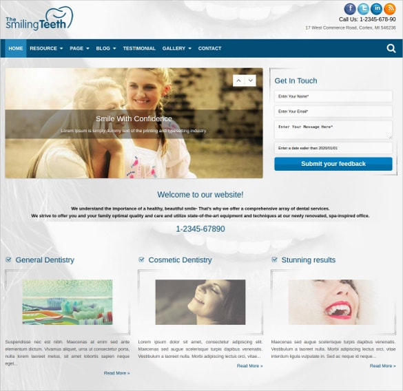dentist wordpress website theme 17