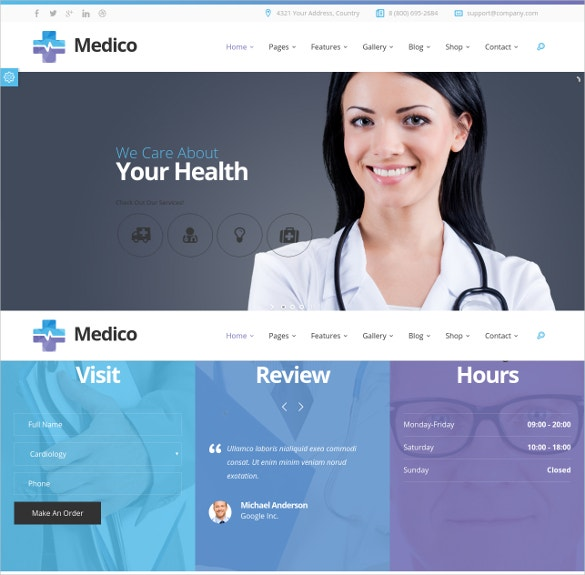 medical dental html website template 18