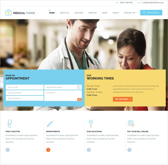 medical dental responsive html website template 25