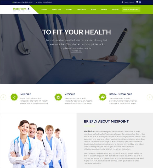 responsive html5 medical dental website template 17