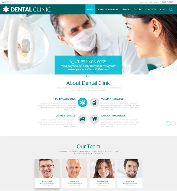 dental care clinic wordpress website theme 75