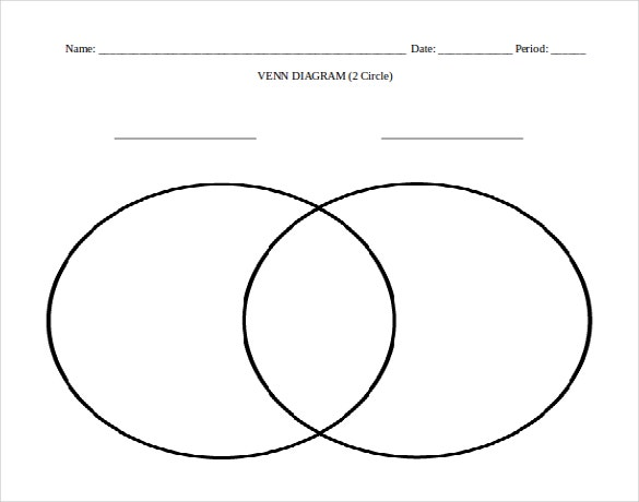 word format 2 circles venn diagram free template
