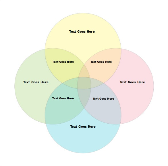 4 circles venn diagram free download word format