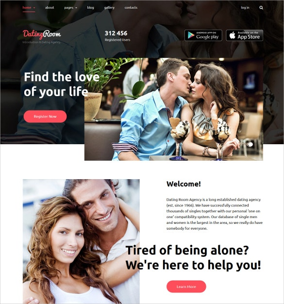 dating room joomla website template 75