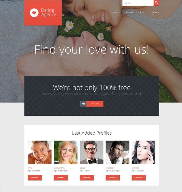 Dating website theme free