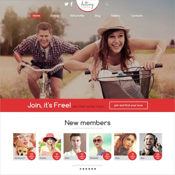 dating responsive joomla website template 75