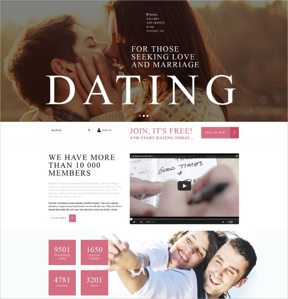 AT Dating Free Responsive Dating Joomla template - Age Themes