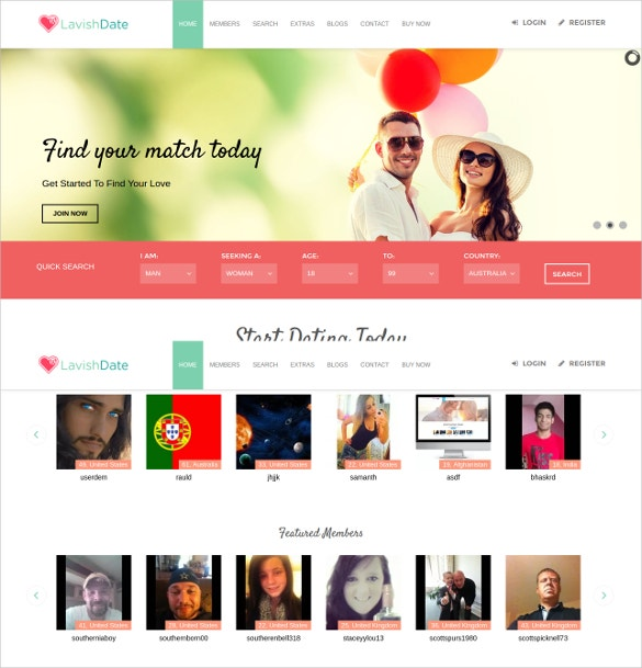 buy dating site template